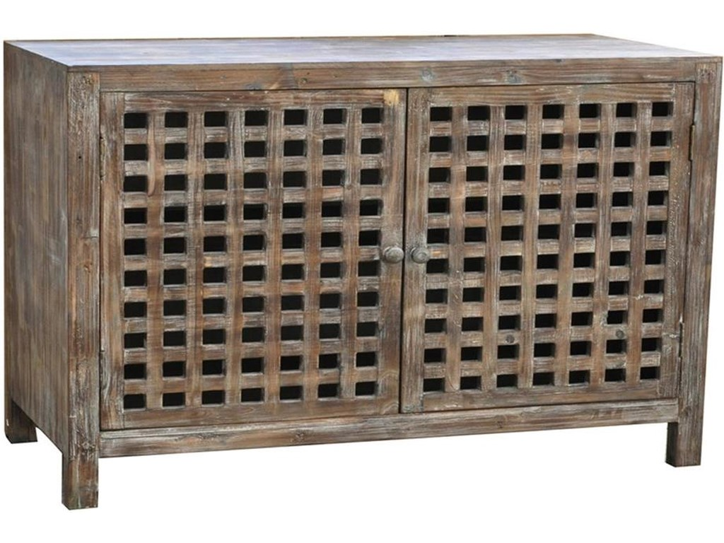 Crestview Collection Accent FurnitureRustic Buffet Cabinet