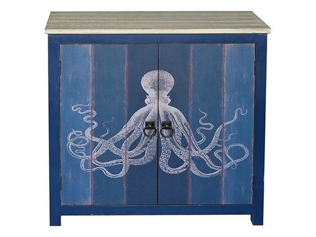 Crestview Collection Accent Furniture2 Door Deep Blue Cabinet