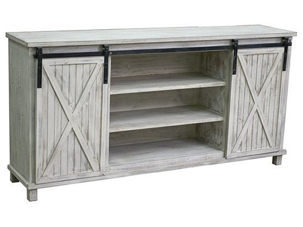 Crestview Collection Accent FurnitureSliding Door Media Console