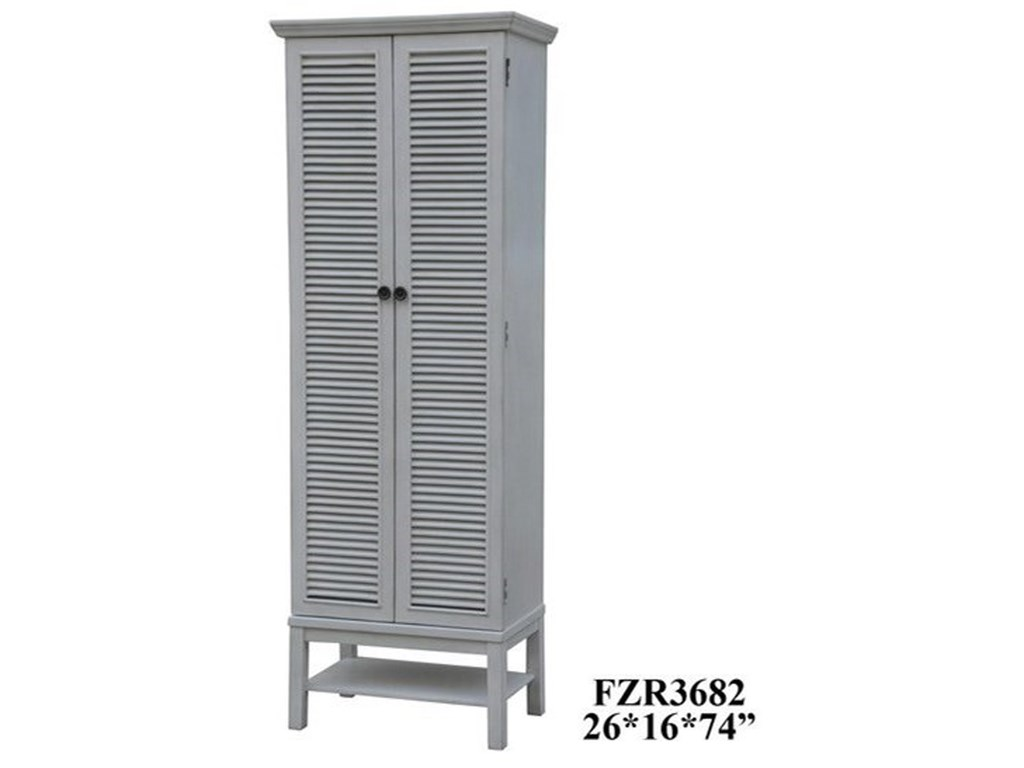 Crestview Collection Accent Furniture Magnolia Louvered 2 Door Tall