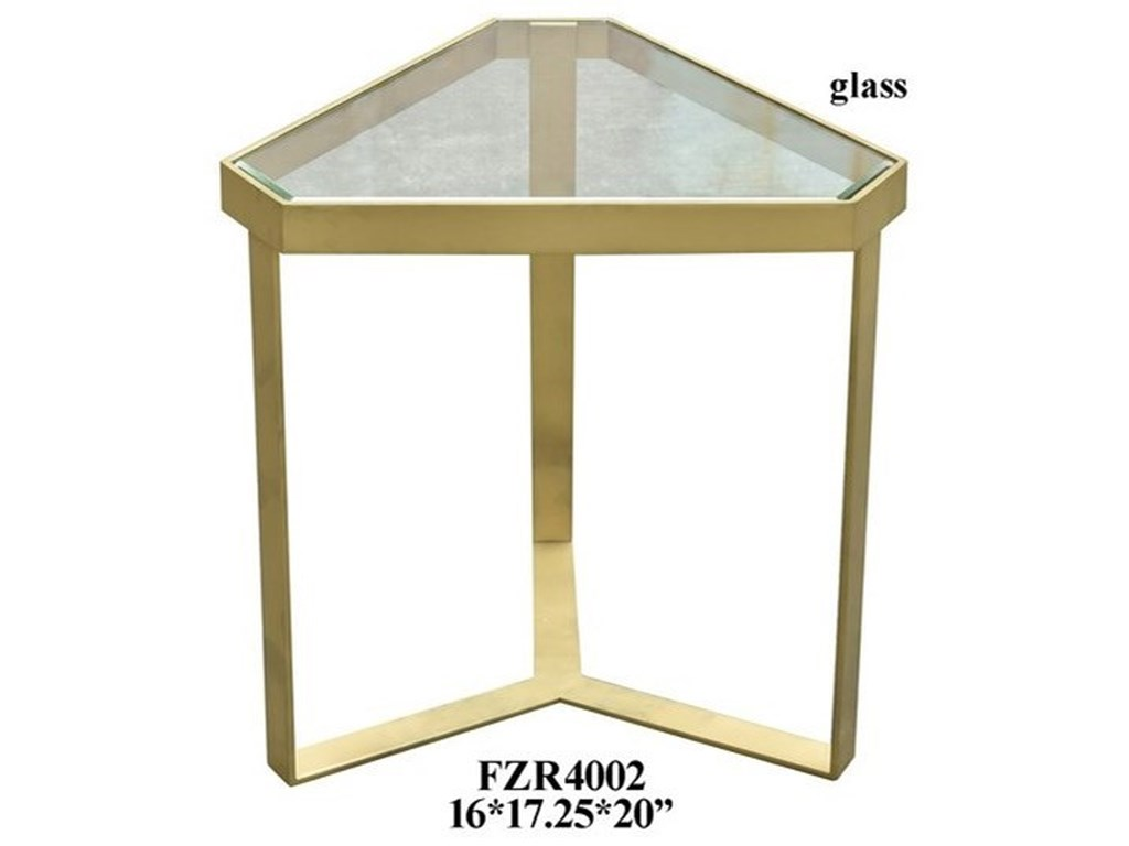 Crestview Collection Accent FurnitureGold Triangle Accent Table