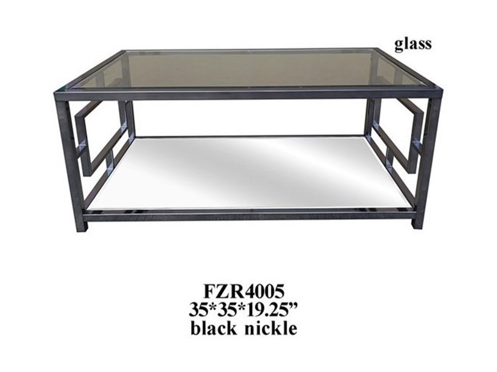 Crestview Collection Accent FurnitureChrome Rectangle Cocktail Table
