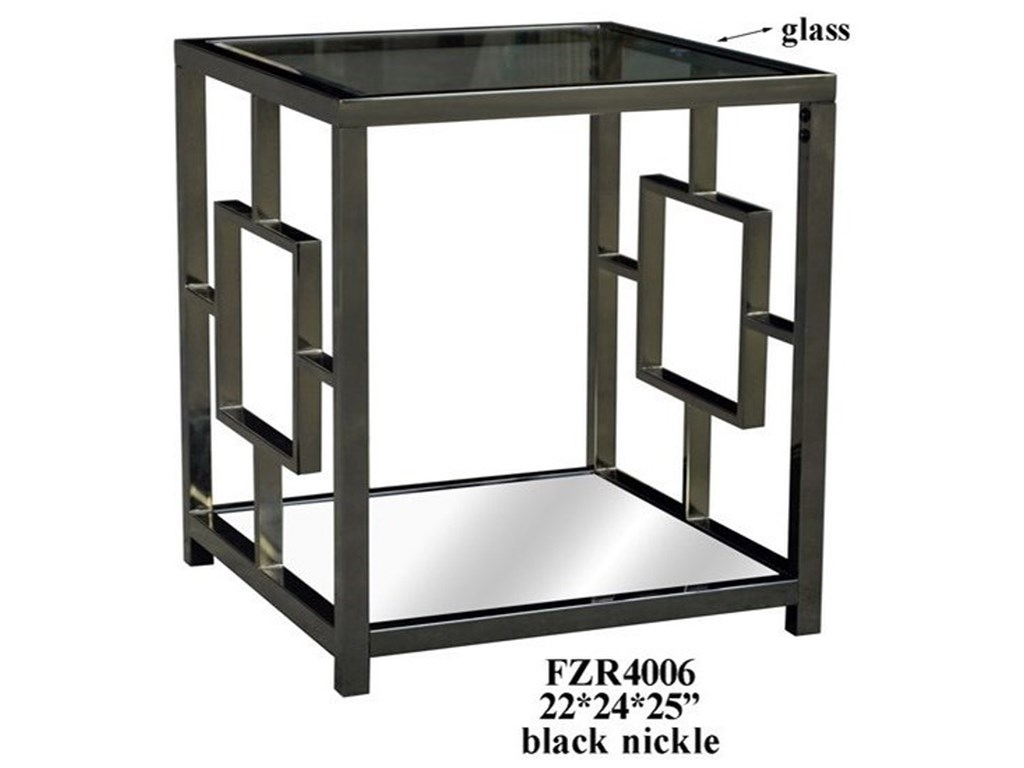 Crestview Collection Accent FurnitureChrome Rectangle End Table