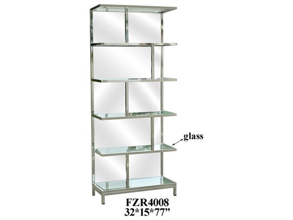 Crestview Collection Accent FurnitureChrome and Mirror Etagere