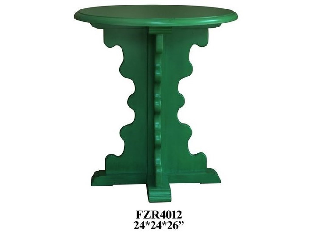Crestview Collection Accent FurnitureShaped Leg Accent Table