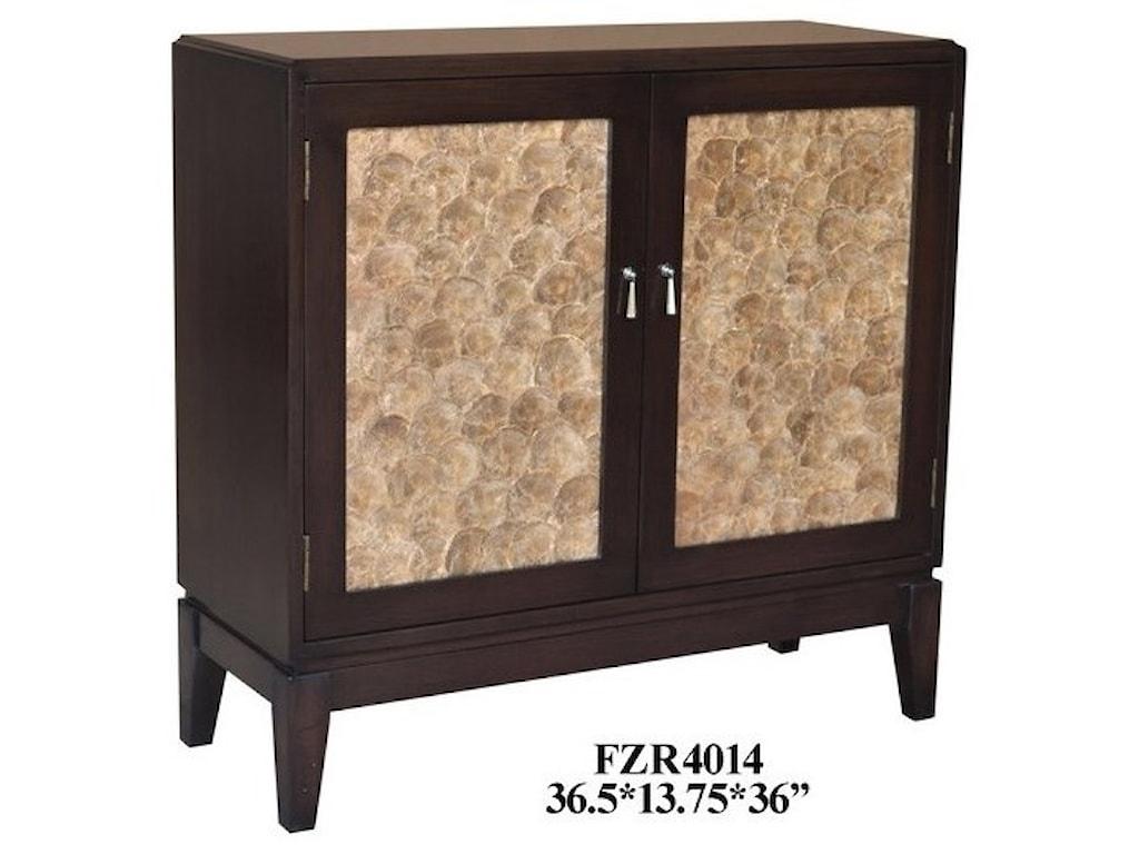 Crestview Collection Accent Furniture2 Door Capiz Shell Cabinet