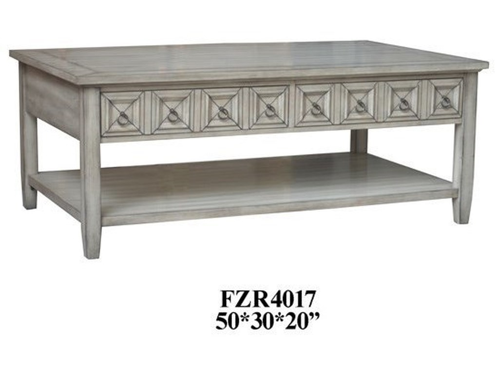 Crestview Collection Accent Furniture2 Drawer Rectangle Cocktail Table