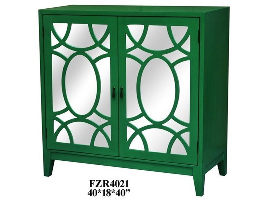 Crestview Collection Accent Furniture2 Door Mirrored Cabinet