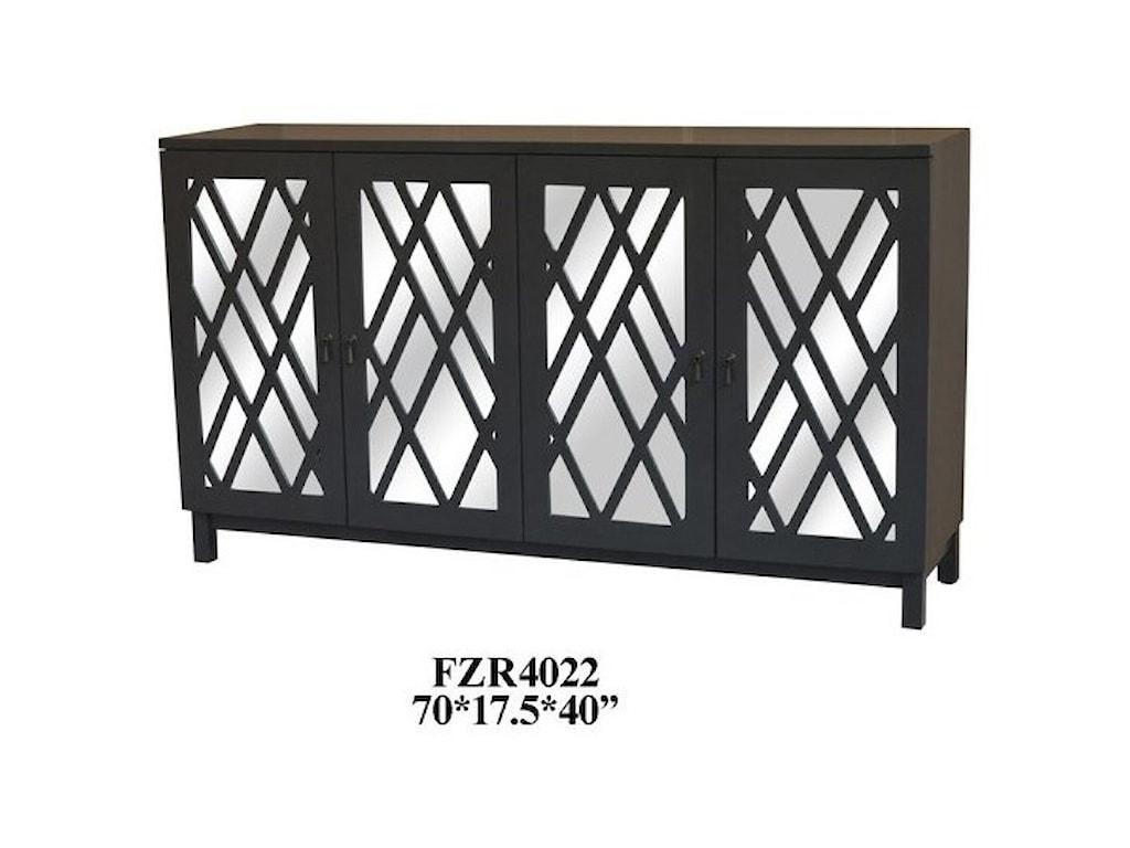 Crestview Collection Accent FurnitureDeep Grey 4 Door Sideboard