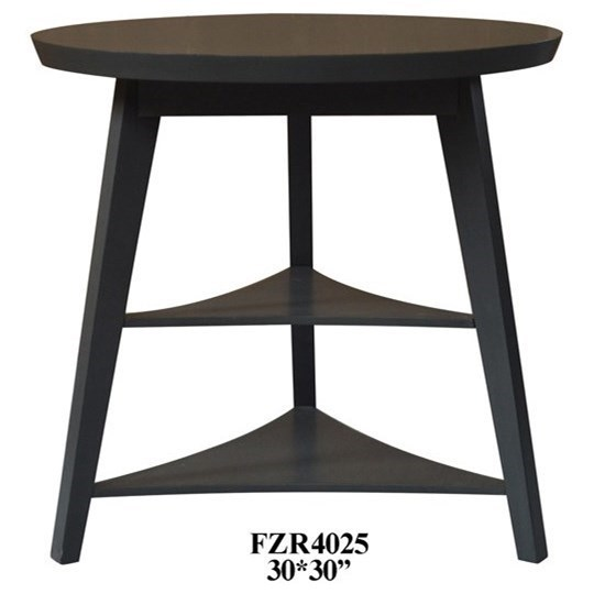 Crestview collection accent furniture newcastle deep grey tier accent table