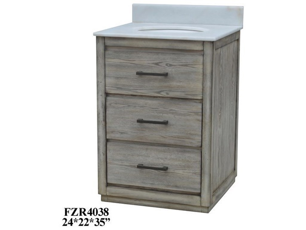 Crestview Collection Accent Furniture2 Drawer Vanity Sink
