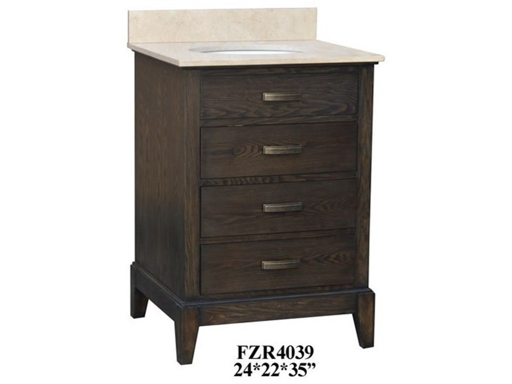 Crestview Collection Accent Furniture3 Drawer Vanity Sink