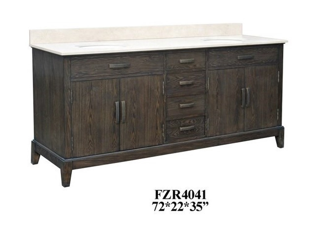 Crestview Collection Accent Furniture4 Drawer Double Vanity Sink