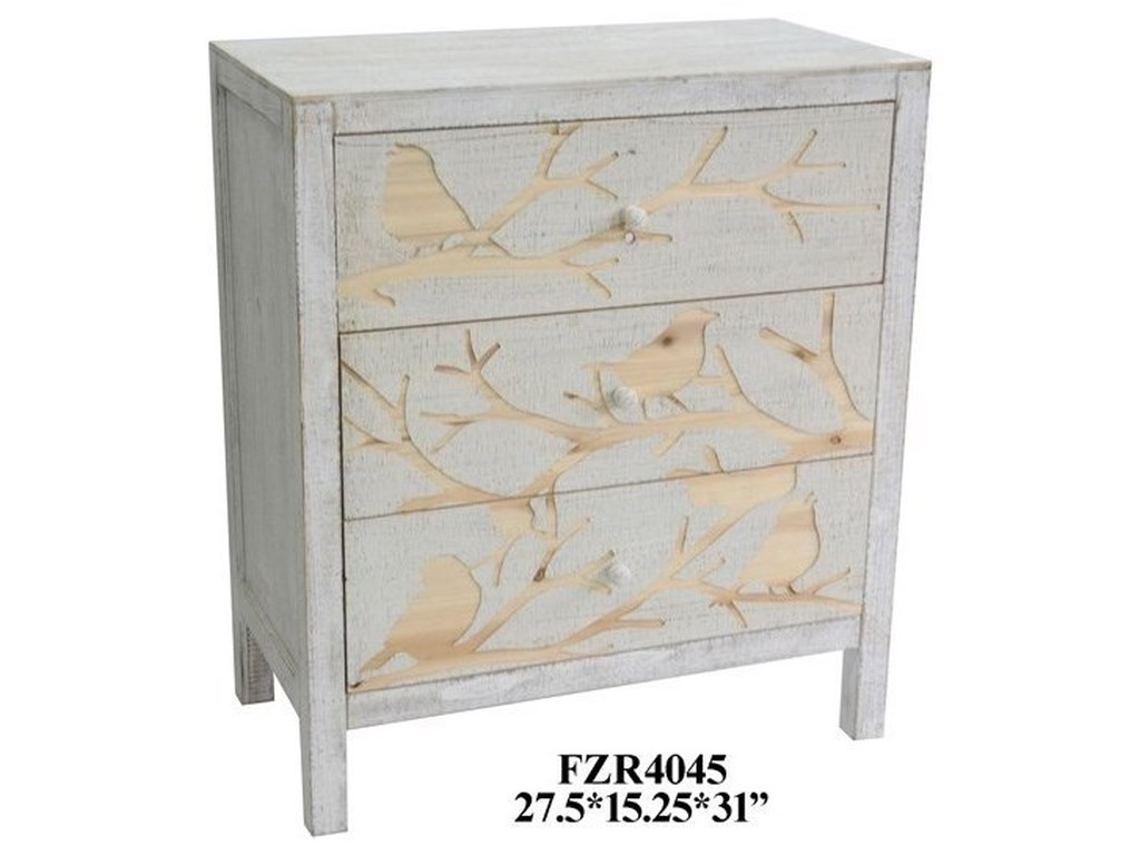 Crestview Collection Accent Furniture3 Drawer Chest