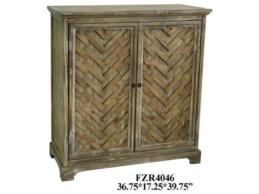 Crestview Collection Accent FurnitureRustic 2 Door Cabinet