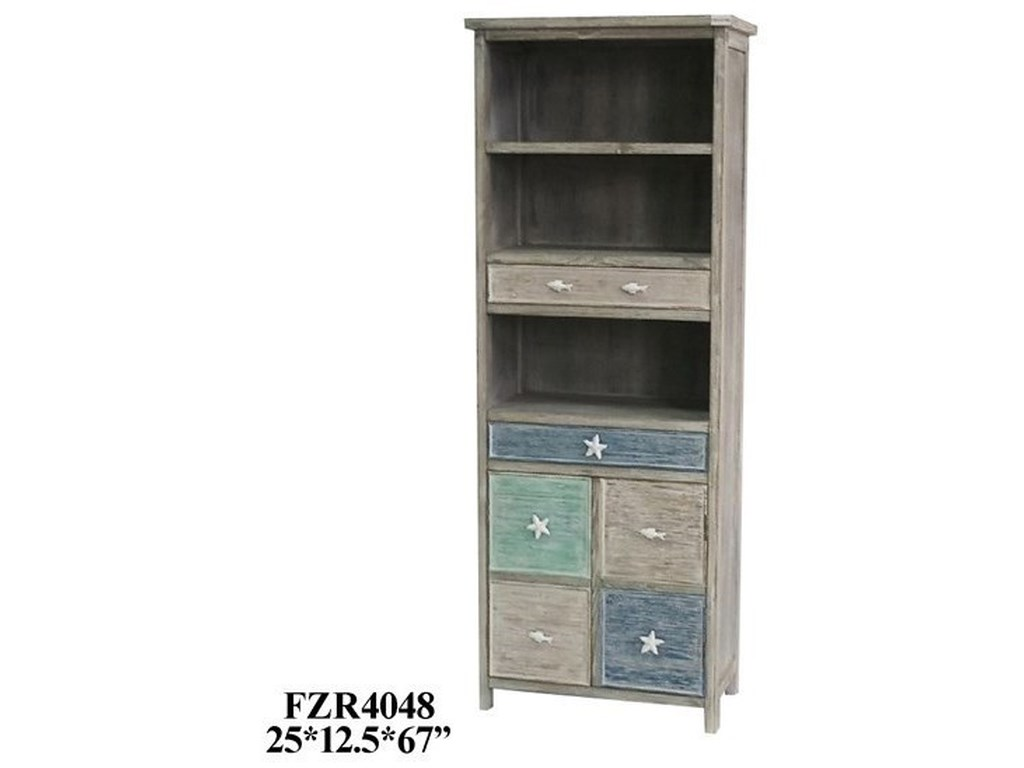 Crestview Collection Accent FurnitureGrey and Multi-Color Cabinet