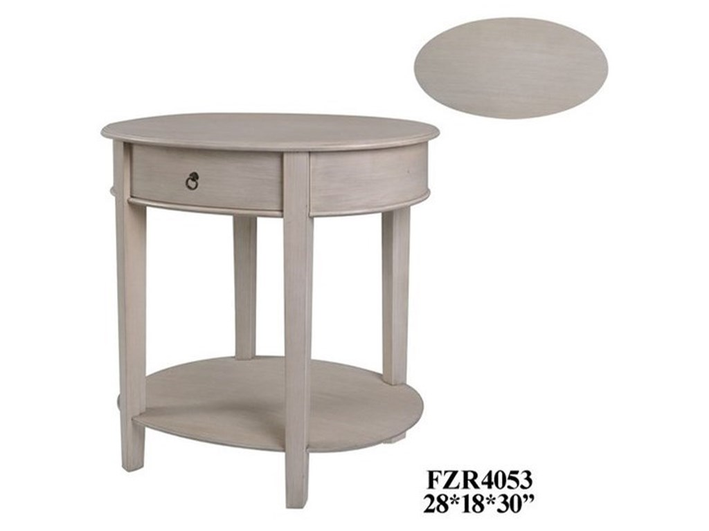 Crestview Collection Accent FurnitureOval Accent Table