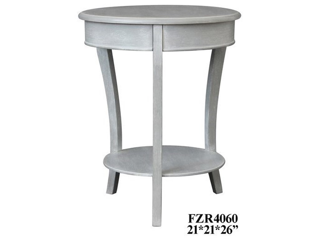 Crestview Collection Accent FurnitureChalk Grey Accent Table