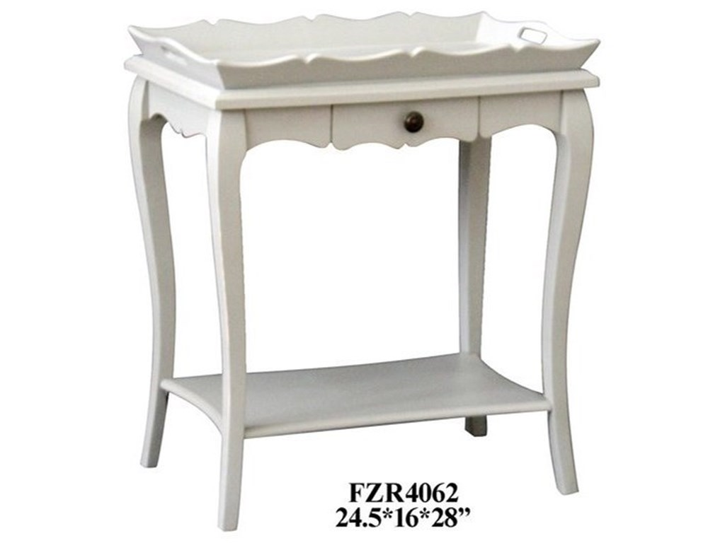 Crestview Collection Accent FurniturePale Grey Accent Table