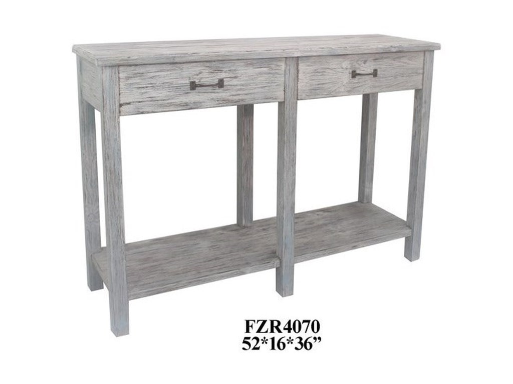 Crestview Collection Accent FurnitureDistressed Wood 2 Drawer Console