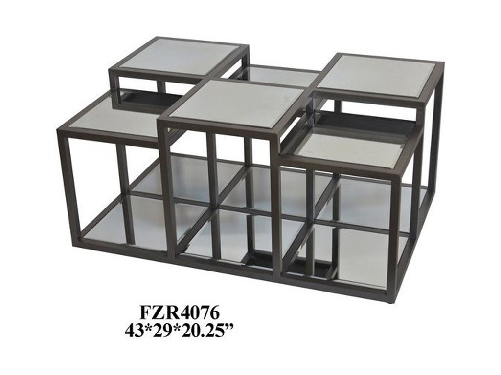 Crestview Collection Accent FurnitureMetal and Mirror Cocktail Table