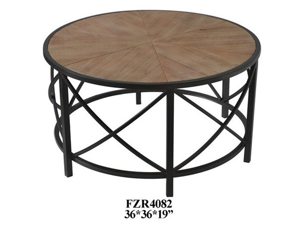 Crestview Collection Accent Furniture Metal and Wood Cocktail Table