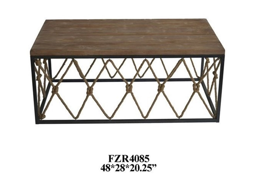 Crestview Collection Accent FurnitureRustic Cocktail Table