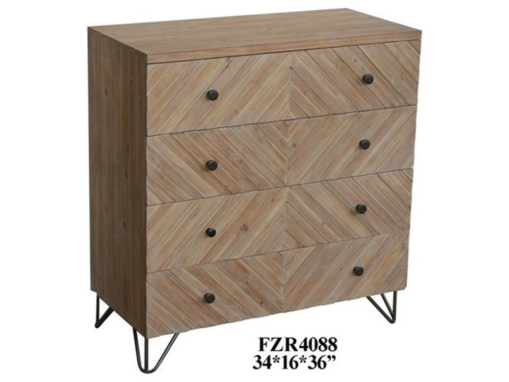 Crestview Collection Accent FurnitureNatural Wood Chest