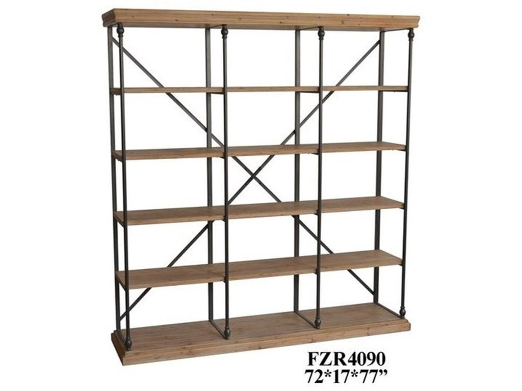 Crestview Collection Accent FurnitureMetal and Wood 3 Section Bookshelf