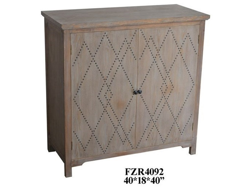 Crestview Collection Accent Furniture2 Door Wood Cabinet