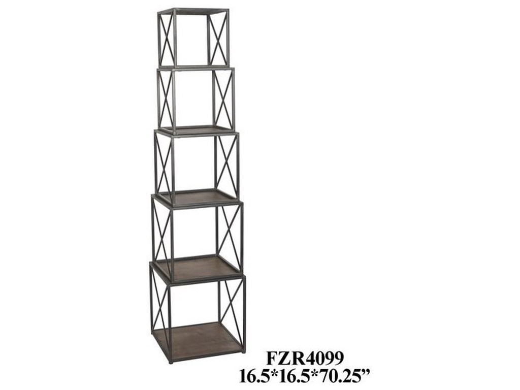 Crestview Collection Accent FurnitureMetal and Wood Stackable Etagere