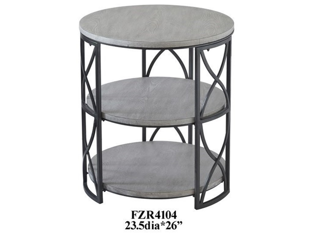 Crestview Collection Accent FurnitureGrey Metal Wood Accent Table