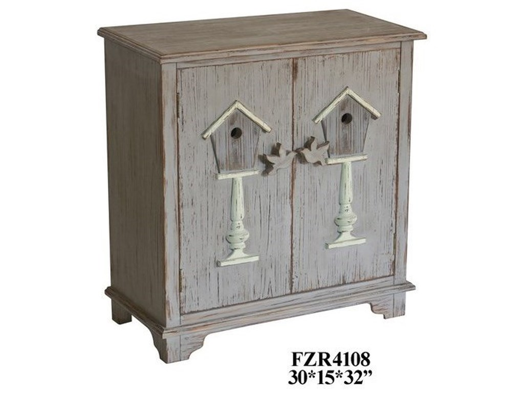 Crestview Collection Accent Furniture2 Door Distressed Grey Cabinet
