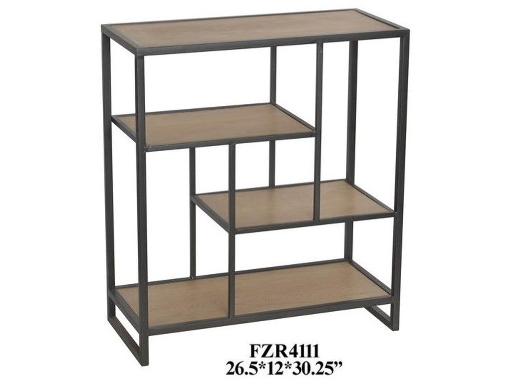 Crestview Collection Accent FurnitureMetal and Wood Offset Small Console