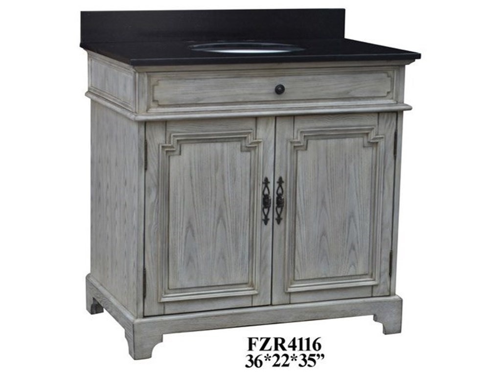 Crestview Collection Accent Furniture2 Door Vanity Sink