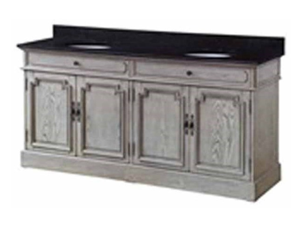 Crestview Collection Accent Furniture4 Louvered Doors Double Vanity Sink