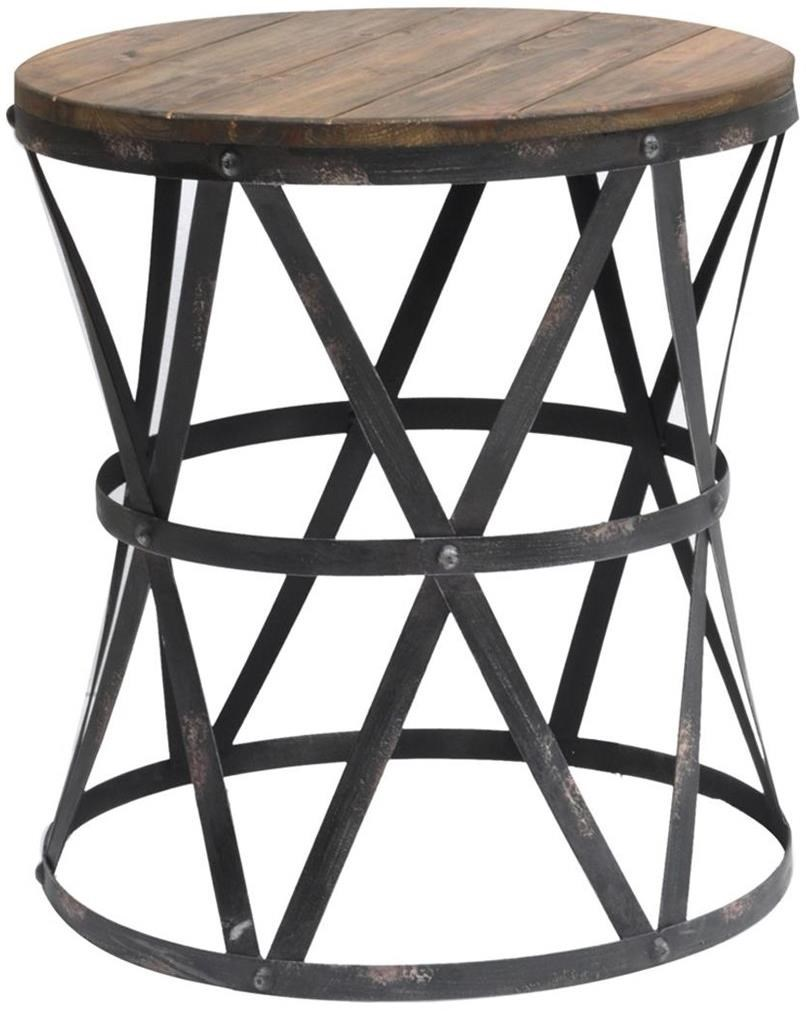 Hawthorne Collections 3 Piece Metal Nesting Table Set in Silver