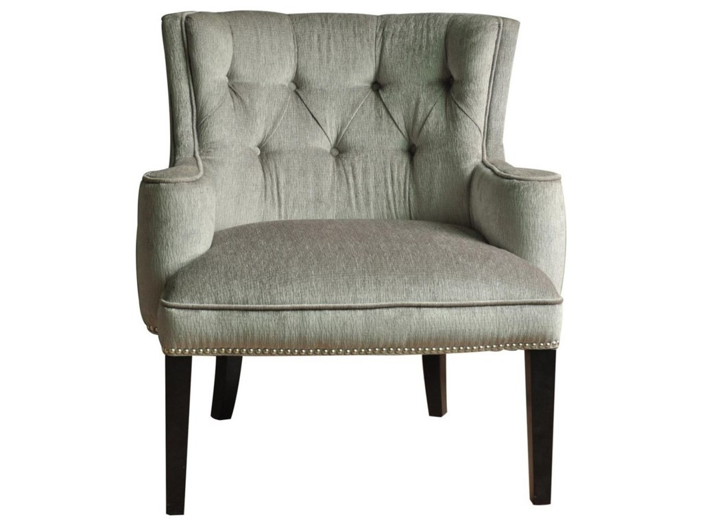 Crestview Collection Accent FurnitureFifth Ave Textured Silver Nailhead Chair