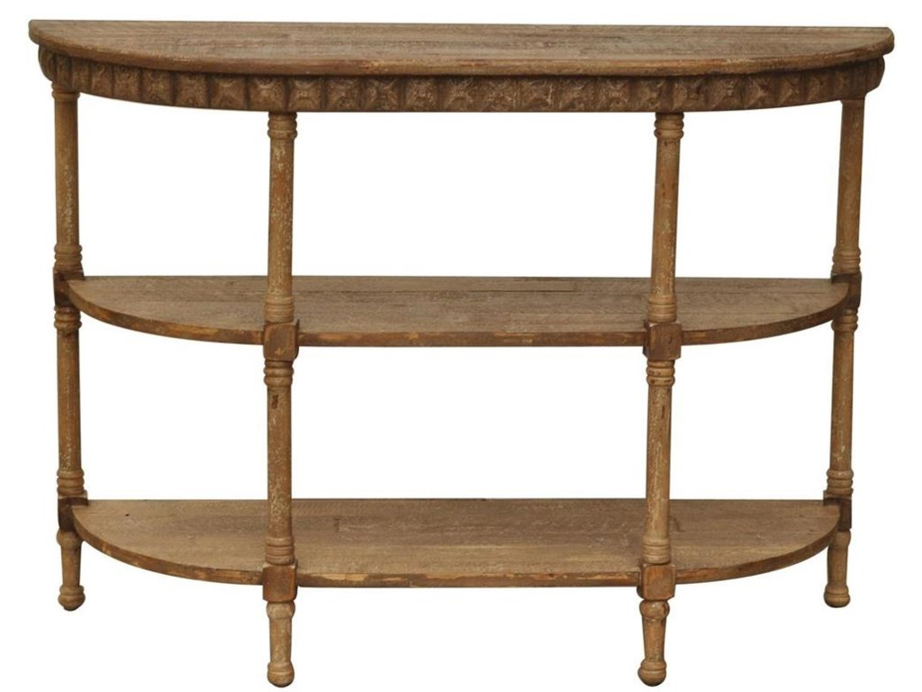 Crestview Collection Accent FurnitureCheyenne Demilune Console