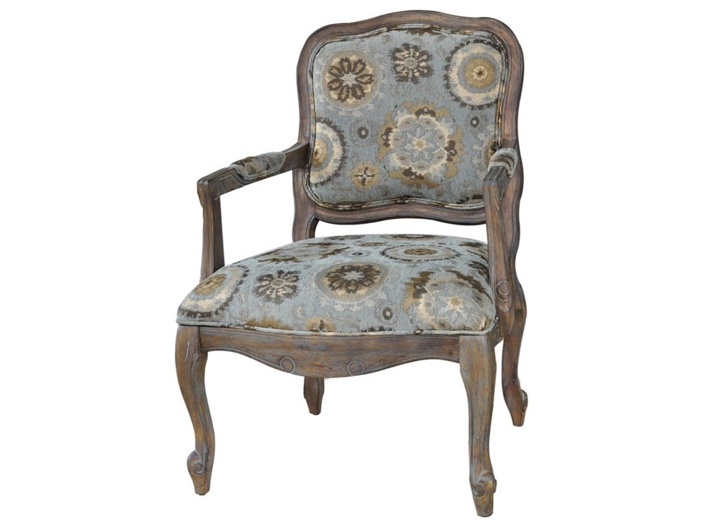 Crestview Collection Accent FurnitureHillcrest Rustic Frame & Pattern Chair