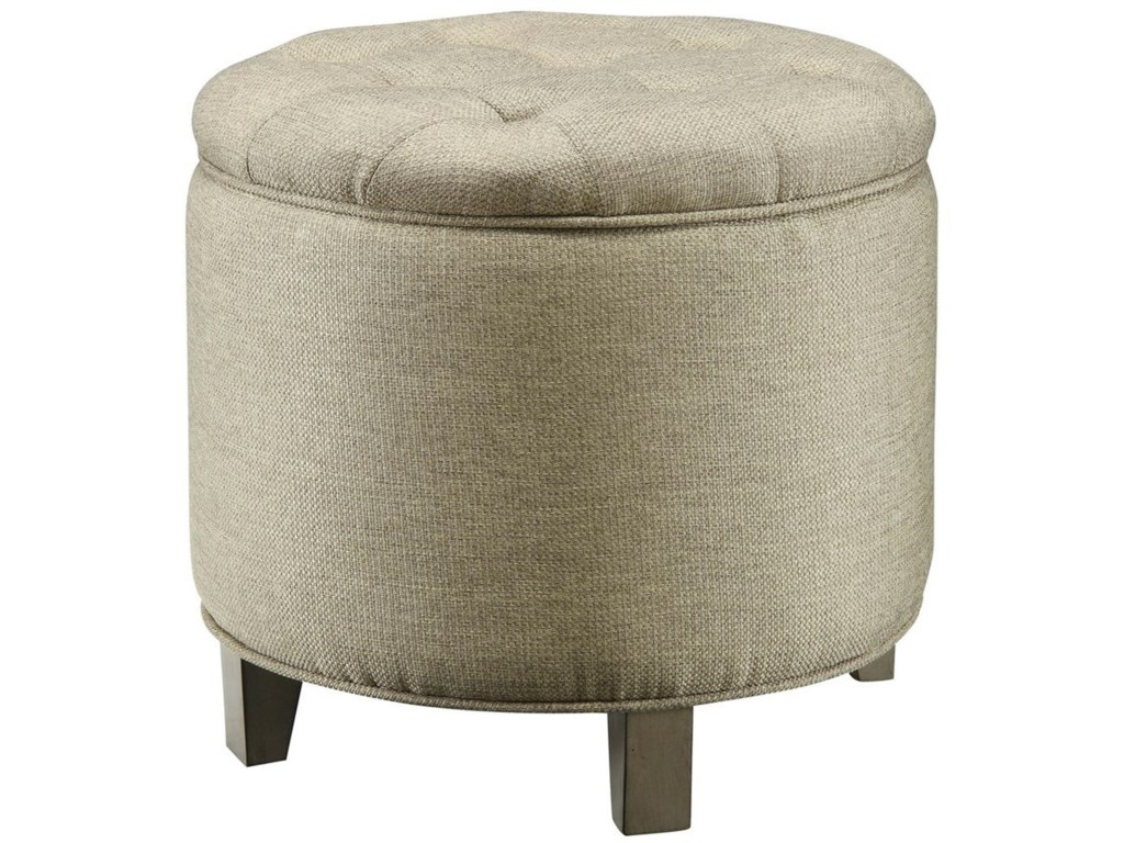 Crestview Collection Accent FurnitureSavannah Linen Shoe Ottoman