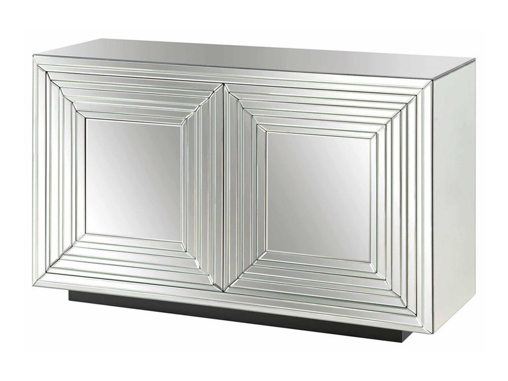 Crestview Collection Accent FurnitureMillenium 2 Door Mirrored Cabinet