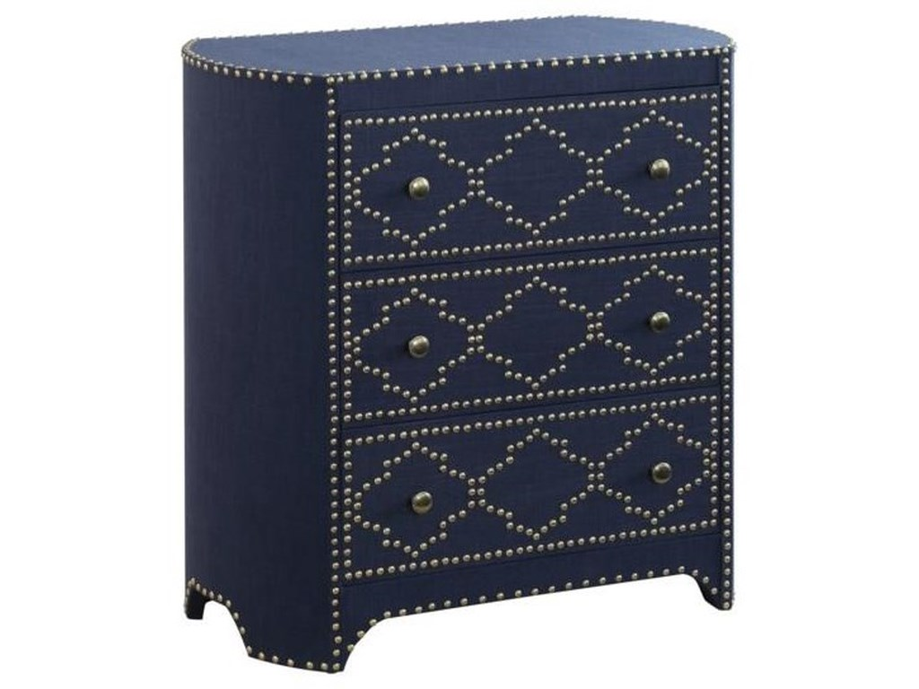 Crestview Collection Accent FurnitureJean Indigo 3 Drawer Chest