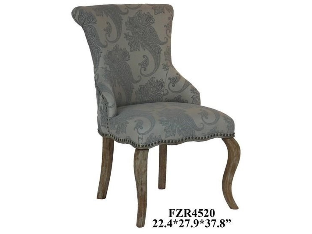 Crestview Collection Accent FurnitureDanielle Paisley Upholstered Accent Chair wi