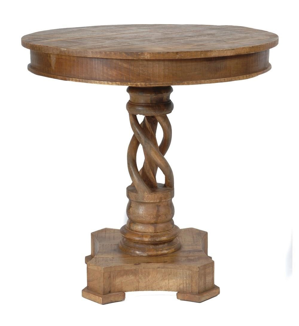 Crestview Collection Bengal Manor Mango Wood Twist Accent Table   Great  American Home Store   End Tables