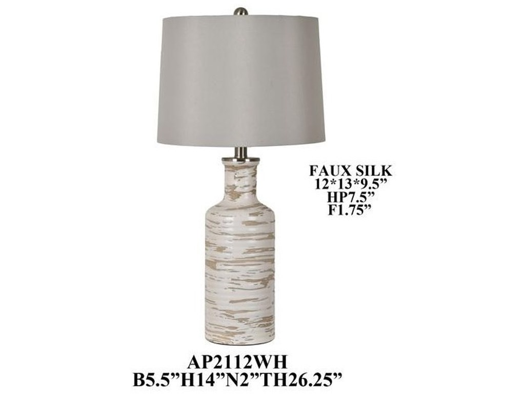 Crestview Collection LampsCeramic Table Lamp