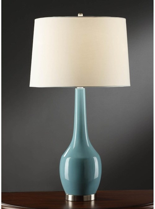 Crestview Collection Lighting Nina Blue Table Lamp
