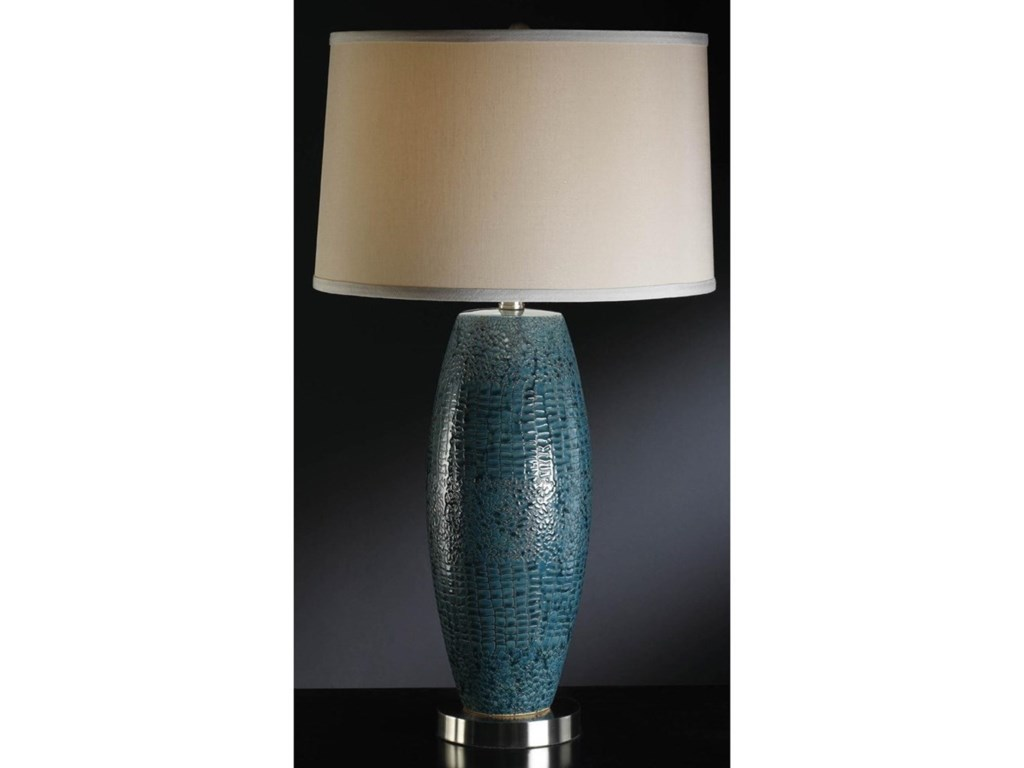 Crestview Collection LightingMelrose Blue Table Lamp