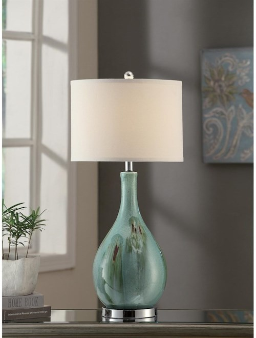 Crestview Collection Lighting Sea Scape Table Lamp 30