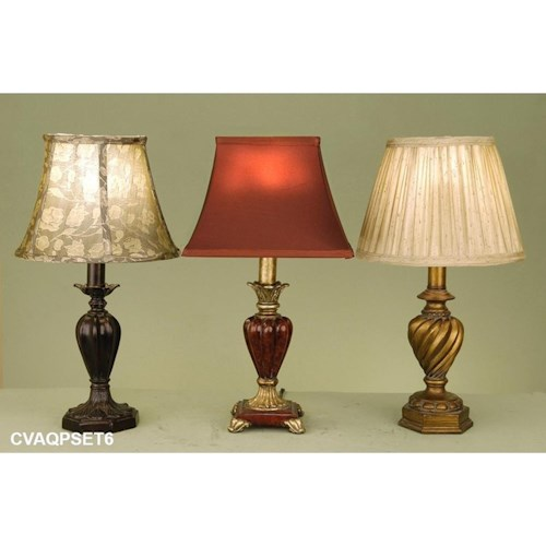 Crestview Collection Lighting Accent Lamp Assortment